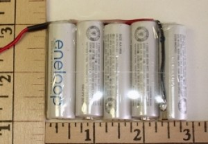 FDK/Sanyo Twicell 2000mah NiMH AA 6.0V 5-cell Flat Pack - Product Image