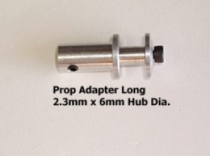 RRC 2.3mm Set Screw Type Prop Adaptor - Long - Product Image