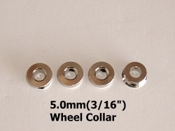 "Radical RC 3/16"" / 5mm Wheel Collars 4-Pack - Product Image"