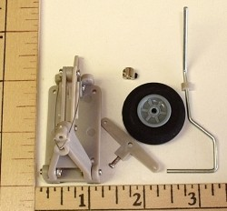 Radical RC Retractable Tail Landing Gear With Wheel/Foam Tire - Product Image