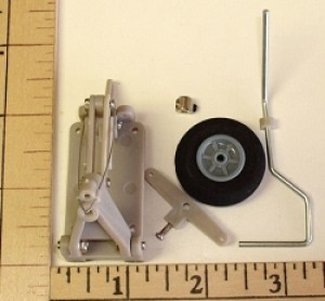Radical RC Retractable Tail Landing Gear With Wheel/Foam Tire