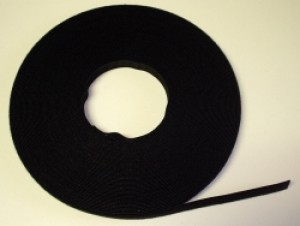 Velcro Brand One Wrap Tape Ultra Light 1/2 Inch Black YARD - Product Image