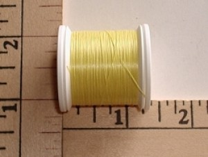 Kevlar 3/0 Thread 50yd Spool, Natural Yellow - Product Image