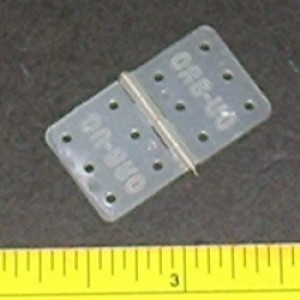 Du-Bro #117 Standard Nylon Hinge 15PK - Product Image