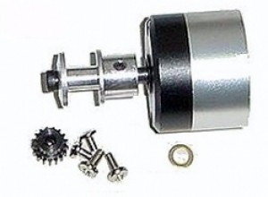 HE Inline Gearbox 2.58:1 Gear Ratio x 5mm shaft for Speed 400 & 480 Motors - Product Image