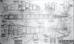 """Ben Buckle Vintage Simplex Electric Plans Set. 60"""" WS. - Product Image"""