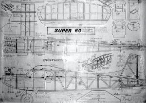 "Ben Buckle Vintage Plans Set: Super 60, 3 channel, 60"" WS. - Product Image"