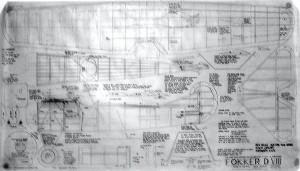 """Ben Buckle Vintage Plans Set: Fokker DVIII. 57"""" WS. - Product Image"""