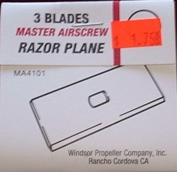 Master Airscrew Razor Plane Spare Blades, 3 Pack #MA4101 - Product Image