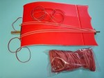 Red Slow Stick Rubber Bands - Product Image