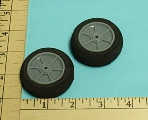 "RRC Light Foam Wheel/Tire Pair. 2""x0.7"" (50mmx18mmx3mm(shaft)) - Product Image"