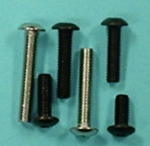 "Button Head Cap Screw, 4-40 x 3/8"" Qty 6 - Product Image"