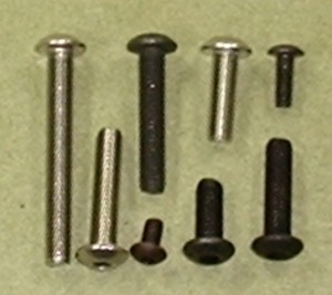 "Button Head Cap Screw, 8-32 x 1/2"" Qty 6 - Product Image"