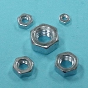4mm Plated Alloy Nut, Qty 6 - Product Image