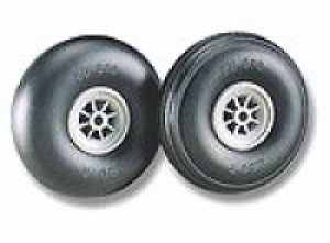 "Du-Bro Low Bounce Treaded Wheels 3.5"" - Product Image"