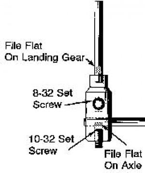 "5/32"" D x 2"" Long Adjustable Axle Set - Product Image"