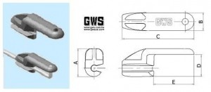 "L Bend Retainers by GWS for .079"" (2mm) wire - Product Image"