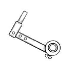"Nose Gear 5/32"" Steering Arm, 1 1/4"" Long by Sonic Tronics - Product Image"