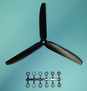 GWS 3 Blade Prop HD 9 x 5 COUNTER ROTATING, Black - Product Image