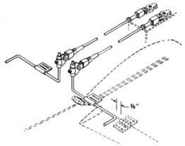 Du-Bro Strip Aileron Torque Rod Horn Set Only - Product Image
