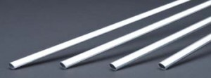 K & S Aluminum Streamline Tubing 1/2 x 36 Inch - Product Image