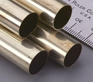 13/32 x 12 inch K & S Round Brass Tubing - Product Image
