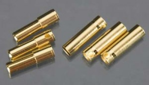 Castle Creations 5.5mm Gold Plated Bullet Connector Pin Set - Product Image