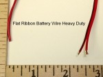 2 Pole Battery Ribbon Wire Heavy Duty 22 Gauge Red/Black - Product Image