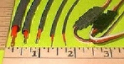 """1/4""""/6.4mm Flexible Shrink Tubing for Wires, 3-Foot Pc RED - Product Image"""