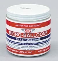 Sig Micro Balloons Filler, Pint Container - Product Image