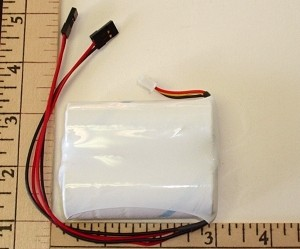 A123/LithiumWerks Life Nano Phosphate 2S 2500mah Receiver Pack - Product Image