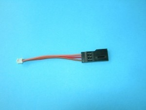 Adapter Futaba J Servo to Micro White Futaba RX 2.5 inch - Product Image