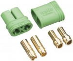 Castle 4mm Polarized Bullet Conn Male 3 Pack - Product Image