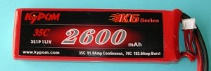 RRC K6 Series 2500 11.1V 3S 35C - Product Image