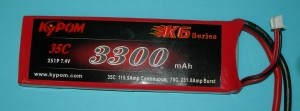 RRC K6 Series 3300 7.4V 2S 65C - Product Image