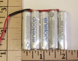 FDK/Sanyo Eneloop, 800mah NiMH AAA 6.0V, 5 Cell,  2 Over 3 Block Nested Pack ~While supplies last! - Product Image