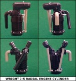 Williams Brothers 1/12 Scale J-5 Radial Cylinder Kit - Product Image