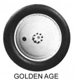 Williams Bros Golden Age 4-3/8 Inch Wheels, Lt. Gray Hub - Product Image