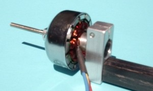 10mm CD-ROM Style Bearing Housing Mount to 10mm Square Boom - Product Image