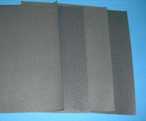 320 Grit Wet or Dry Sandpaper Sheet - Product Image