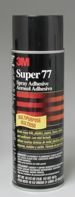 3M Super 77 Spray Contact Adhesive 13.54 Ounce SHIPS PARCEL POST/b> - Product Image