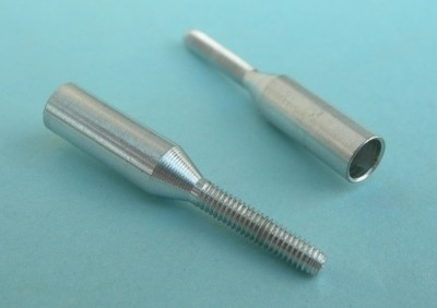 4mm Carbon Tube Coupler to 2mm Threads - Product Image