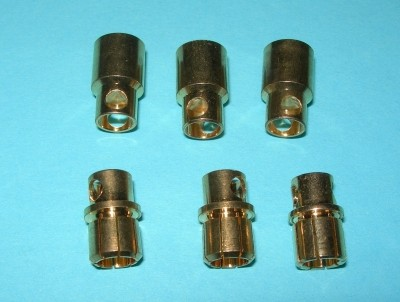 8.0mm Bullet Connector Pin Set, 3-pack - Product Image