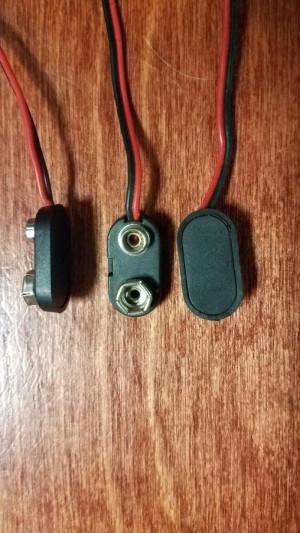 9V Clip Power Input Plug. - Product Image