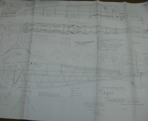 Ben Buckle Vintage Plans Set: Super Scorpion - Product Image