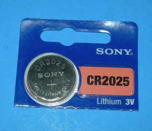 CR2025 Button Cell.  Lithium primary cell - Product Image