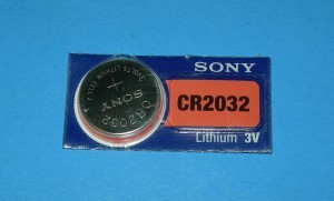 CR2032 Button Cell.  Lithium primary cell - Product Image