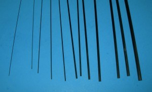 Carbon Solid Rod Variety of Sizes (Min. qty. 6 rods total; any type rod mix O.K.) - Product Image