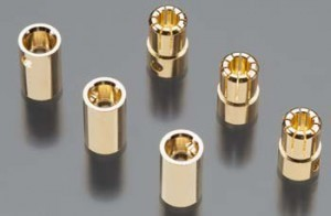 Castle Creations 8.0mm Gold Plated Bullet Connector Pin Set - Product Image