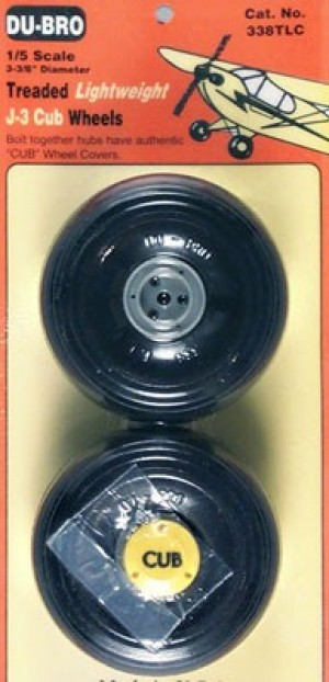 Du-Bro 1/5 Lightweight J-3 Cub Wheels Pair - Product Image